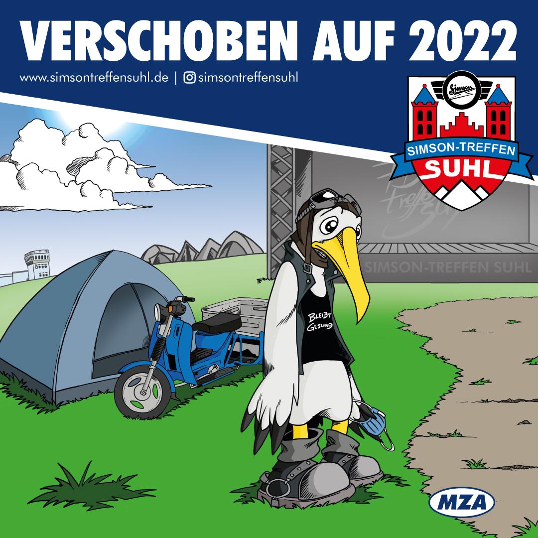 SIMSON-Treffen Suhl 2021 verschoben