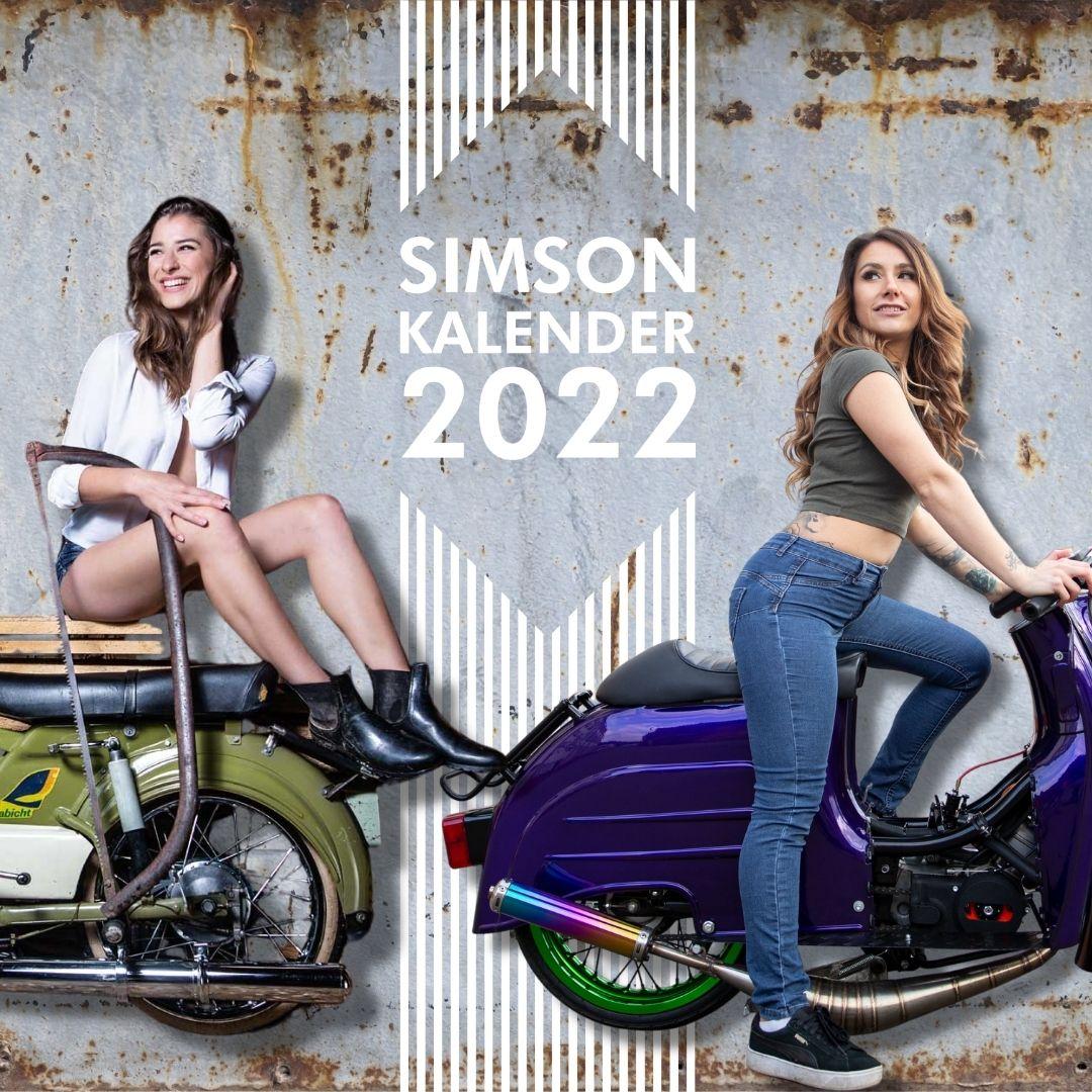 SIMSON-Kalender 2022 mit den Models Stella Stegmann und Lisa Yasmin